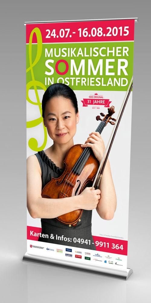 Musikalische Sommer in Ostfriesland 2015 | Rollup