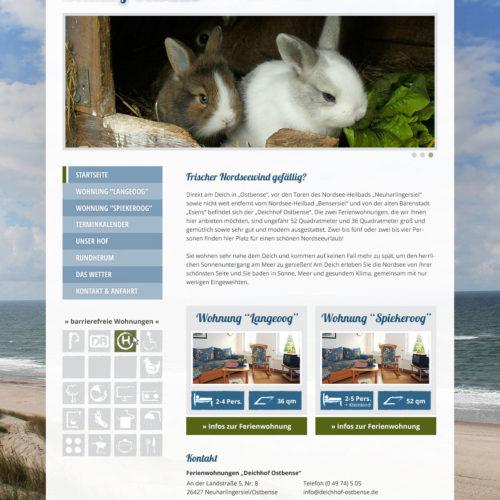 Deichhof Ostbense | Webseite