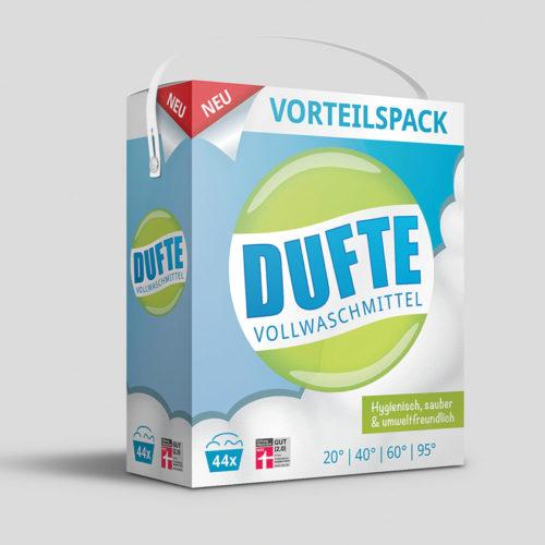 Dufte Vollwaschmittel | Packaging