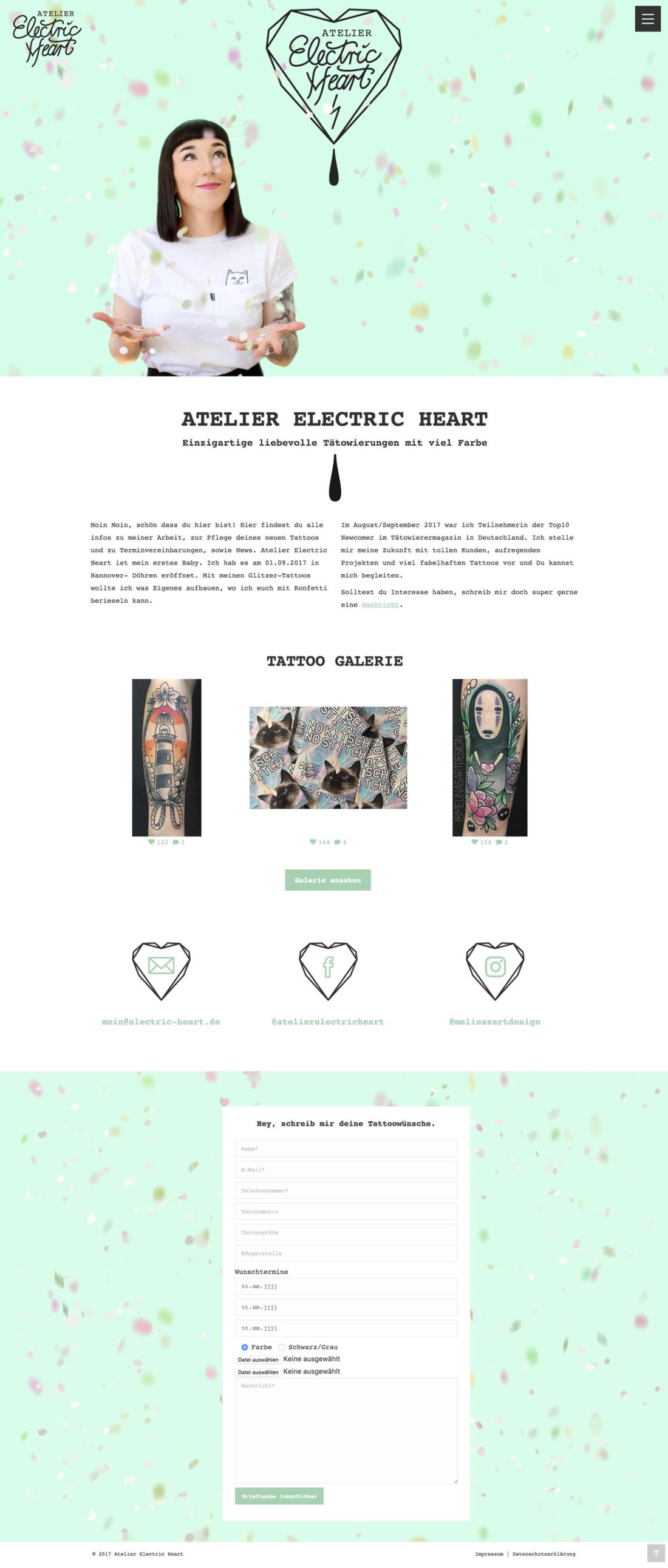 Atelier Electric Heart | Webseite | Home