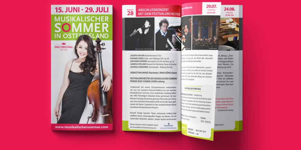 Musikalischer Sommer in Ostfriesland | Programmheft